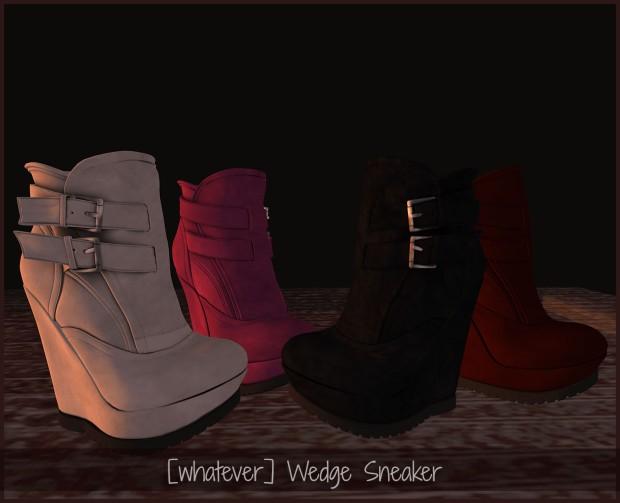 [whatever] wedge sneaker
