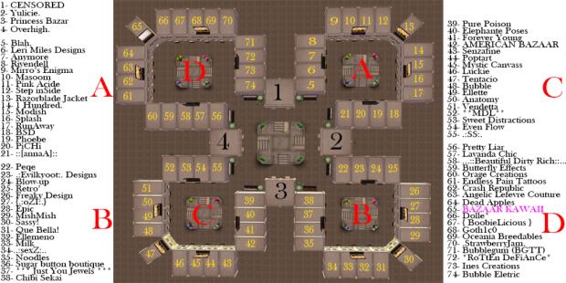Kawaii Fair Map (Please add to Kawaii Fair Related Posts)